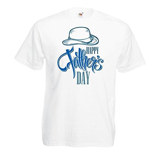 lepni.me Camisetas hombre Feliz día de los padres - mejor regalo de su hijo o hija (Small Blanco Multicolor)