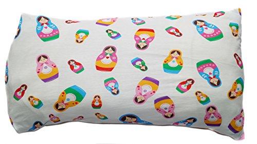 Baby Kinder Kopfkissenbezug Bio-Baumwolle GOTS 11 Farben Kissenbezug Kissenhülle Jersey 40x60cm (Matrjoschka)