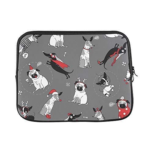 JSXMNA Design benutzerdefinierte lustige textur Hunde Weihnachten kostüme hülse weiche Laptop Tasche Tasche Haut für MacBook air 11