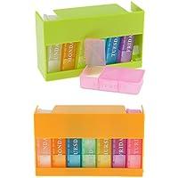 MagiDeal 2 Stück 7 Tage Pillendose Pillenbox Tablettendose (Jede Box mit 3 Fächern Für jeden Tag) Reisen Tablettenbox... preisvergleich bei billige-tabletten.eu