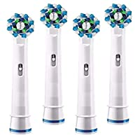 Cross Action Toothbrush Heads Compatible with Oral-B Devices - 4 Pieces