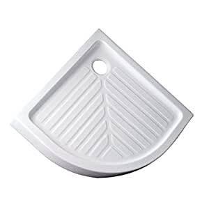 Receveur d'angle PRIMA2, 80x80 cm, surélevé, extra-plat, avec bonde D90 mm, blanc Réf 00708100000