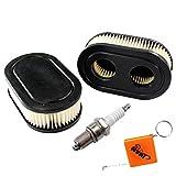 HURI Luftfilter mit Zündkerze für Rasenmäher Motoren Briggs & Stratton 798452 593260 Oregon 30-168 Rotary 14364