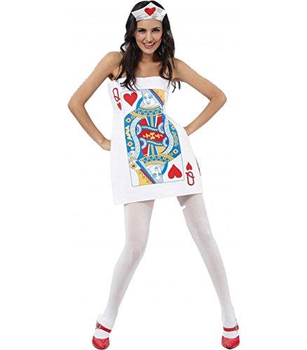 Imagen de disfraz de carta dama de corazones  talla única m/l