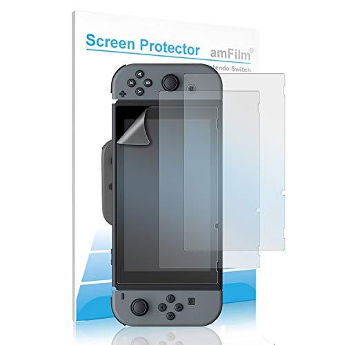 layschutzfolie Anti Glare, amFilm Nintendo Schalter Matte Display Schutz für Nintendo Switch 2017 (3er Pack) ()