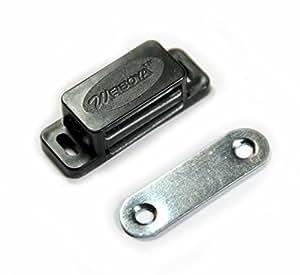 6x 42mm Magnet Schnäpper Türmagnet Möbelmagnet Magnetverschluß Türschnäpper Haltemagnet (deutscher Händler!) (schwarz)