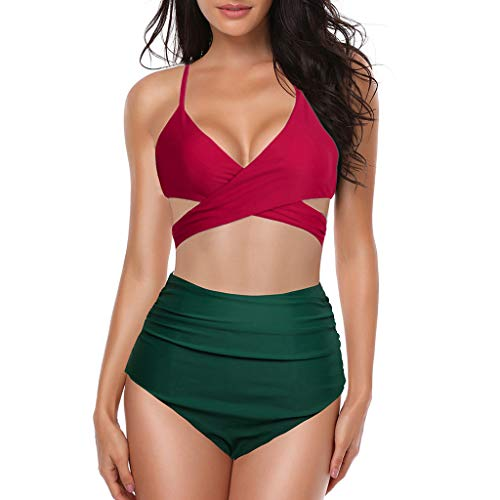 e0902a7aa0a3 UJUNAOR Bikini Donna, Bikini Diviso Donna,Tinta Unita,Costumi da Bagno  Imbottiti Push