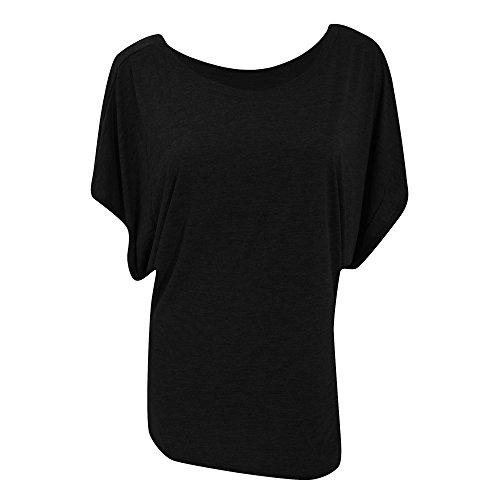 Bella - T-shirt à manches chauve-souris - Femme Gris foncé