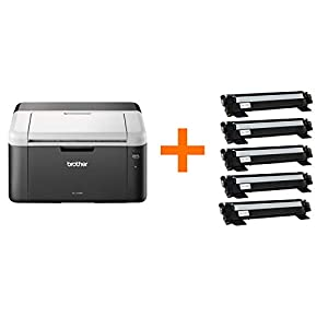 Brother HL-1212W Mono Laser Printer | XL Bundle | Wireless & PC Connected | Print | A4 | Includes 3 Years' Worth Of Printing