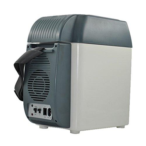 JCOCO 7.5L Auto Kühlschrank Auto Dual-use Mini Kleine Tragbare Kühlschrank Heizung Muttermilch Kühlbox Warme Reise (Farbe : Gray)