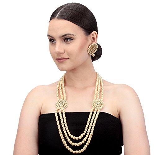 BambooTreeJewel Traditionelle indische Damen Schmuck vergoldet Halskette Set Damen Ethnic Collection (Indischer Schmuck-display)