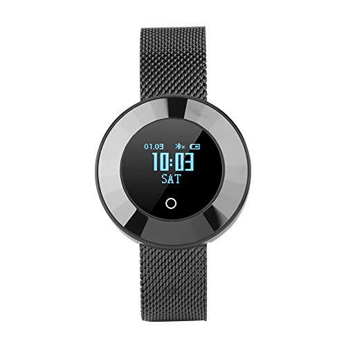 X6 Smartwatch, Bluetooth Damen Smart Watch Fitness Tracker Meatall  Armbanduhr mit Herzfrequenz Pedometer, Schrittzähler, Schlafmonitor,  Yoga-Modus,