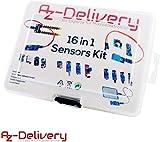 AZDelivery 16 in 1 Kit Zubehörset mit Sensoren und Modulen mit gratis eBook für Raspberry Pi, Arduino