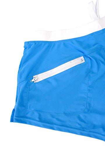 OUO Badehose Herren Badeshorts Schwimmhose Wassersport kurze Hose Blau