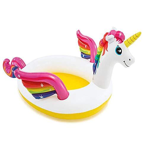 SUWIN Piscina Inflable para bebés Unicornio, Piscina Infantil para niños, Piscina de Arena para niños...