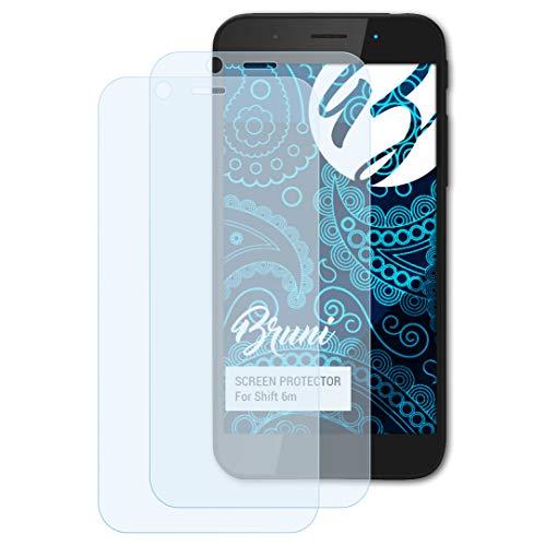 Bruni Schutzfolie kompatibel mit Shift 6m Folie, glasklare Bildschirmschutzfolie (2X)