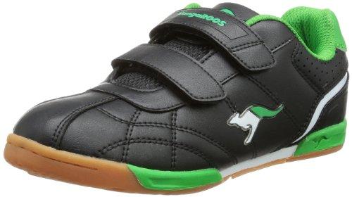 KangaROOS Hector-Combo 11035, Scarpe sportive unisex bambino Nero (Schwarz (black/green 508))