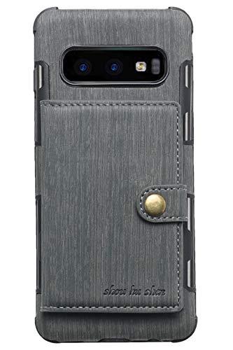 FLY HAWK Hülle Handy Wallet mit Kartenfächer Lederhülle Wallet Case Schutzhülle Taschen [Premium PU] [Geldbörse] für Samsung Galaxy S10 [Galaxy S10 Plus] [Samsung S10e] in vielen Farben