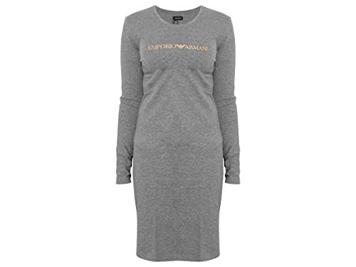 Emporio Armani Damen Night Dress L/S Nachthemd 7A263163967 06749 Grey