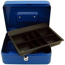 Nueva caja de caudales banco dinero moneda de llave de bloqueo seguro de acero cajón de