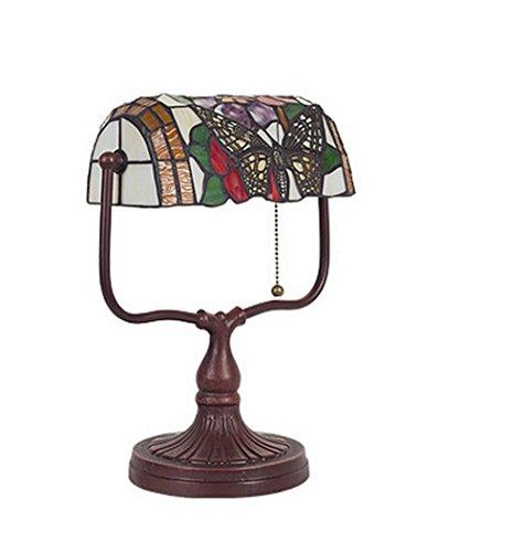 SSBY Lámparas Vintage Bank, dormitorio cama den República vidrio mesa, vidrio pull interruptor de (Bottiglia Bank)