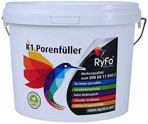 RyFo Colors K1 Porenfüller 3kg (Größe wählbar) - Versiegelung für Buntsteinputz, Steinteppich, verarbeitungsfertig, transparent, für innen und außen
