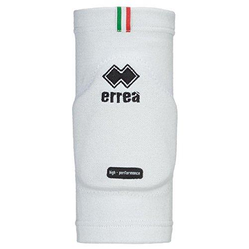 Errea Ginocchiere/protezione Ufficiali della Nazionale Italiana Pallavolo, colore bianco (L)