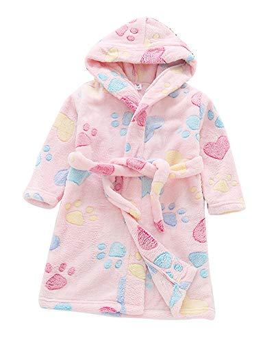 4ff076437161c9 Kinder Mädchen Bademantel Handtuch Mit Kapuze Weiche Bequeme Kleidung  Handtuch Terry Bademantel Hausmantel Katze Rosa 140