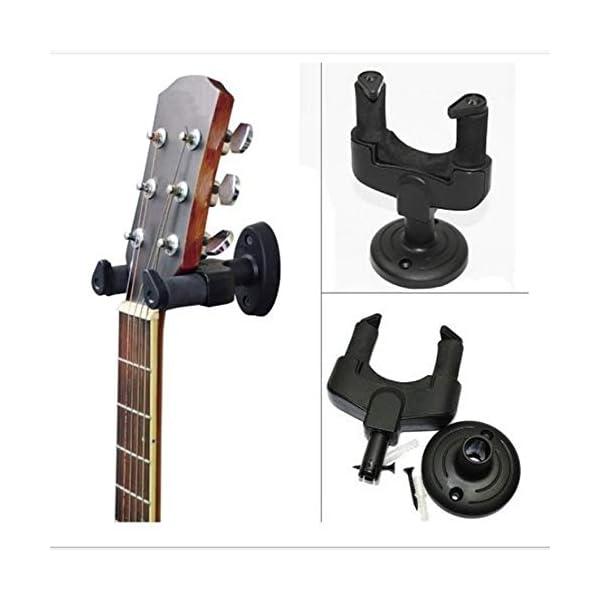 RoadRoma Soporte para Colgador de Guitarra eléctrica Soporte de Montaje en Pared para Guitarra de Todos los tamaños… 5
