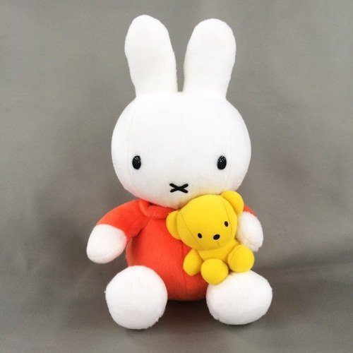 Miffy Plush with bear - 21cm 8.5""