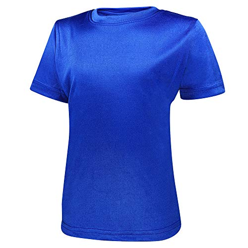 Alps to Ocean Sports Kinder Sportshirt Funktions T-Shirt Teamsport (schnelltrocknend, atmungsaktiv), Größe:128, Farbe:Royal Blue
