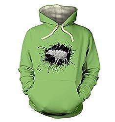 Banksy Wet Shaking Dog Hoodie (premium)
