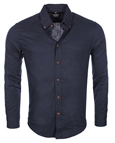 carisma-homme-chemise-confort-en-lin-bleu-marine-8340