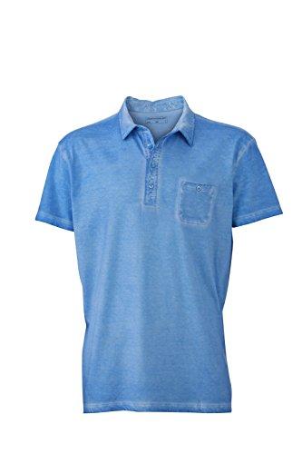 JN988 Mens Gipsy Polo Herren Poloshirt Polohemd James & Nicholson Horizon Blue