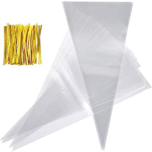 DOXMAL 100 Stücke Klare Cellotaschen Robuste, leichte Bonbontüten für Süßigkeiten Party Crafts Snacks Süßigkeiten Popcorn-Pralinen Marshmallow-Geschenke