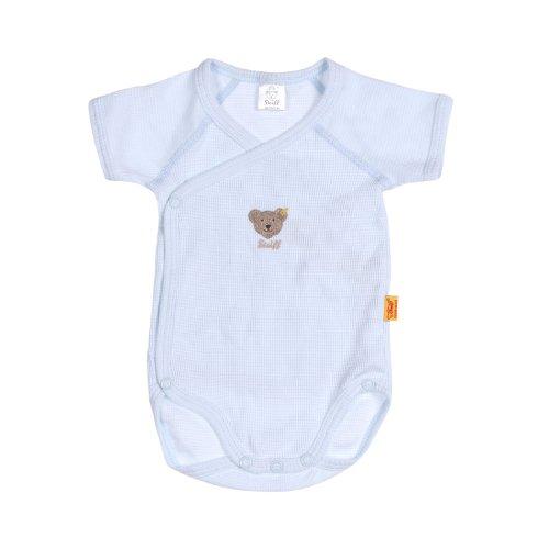 Steiff Unisex - Baby Body 0008641 1/4 Arm, Gestreift, Gr. 68, Blau (Steiff Baby Blue)