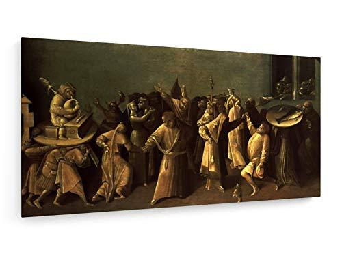 Hieronymus Bosch - Der Kampf zwischen Karneval und Fastenzeit - 80x40 cm - Leinwandbild auf...