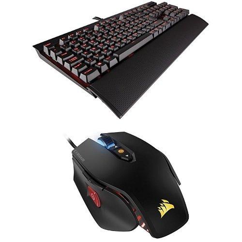 Preisvergleich Produktbild Im Set: Corsair STRAFE K70 Rapidfire Tastatur + M65 RGB Gaming Maus