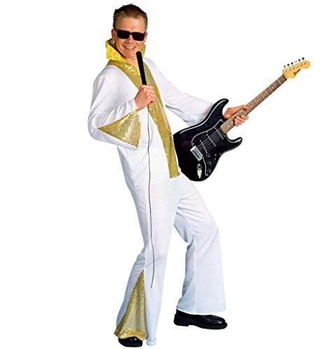 Herrenkostüm Rockstar Musik Schlager Showmaster Celebrity TV Star Anzug Karneval Fasching Mottoparty Gr 48/50 - 56 (52) (Musik Star Kostüm)