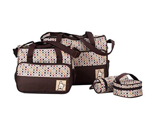 Gladiolus Wickeltasche 5 Teilig Babytasche Set Pflegetasche Tragetasche Wickeltasche Kinder Baby Windeltasche Kaffee