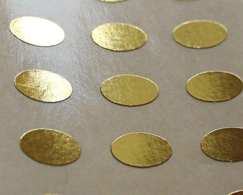 150 Etiquetas, 10x7mm óvalos, Dorado Brillante, pegatinas autoadhesivas, Minilabel Formas