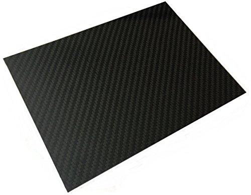 In fibra di carbonio, in fogli formato A4, rigido, 1 mm, 100% fibra di carbonio) - A4 In Fibra Di Carbonio