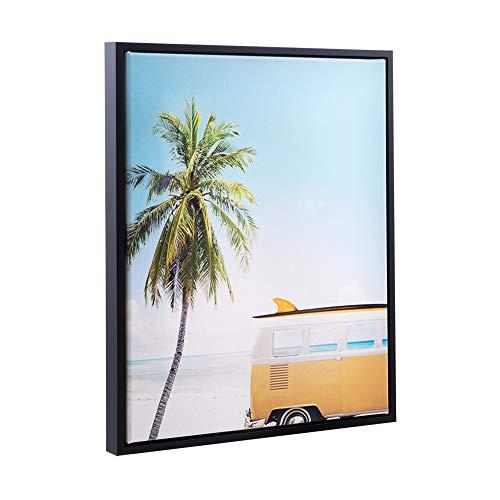 Bildershop-24 Schattenfugen - Rahmen LEMGO 60x120cm Schwarz (matt) - 7 Farben 73 Formate Massivholz