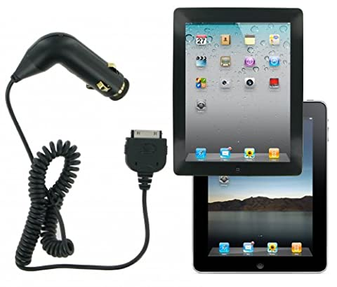 Kit Gun Style In-Car Charger Power Cord Cigarette Lighter Adapter for 30-Pin iPad 2/3 - Black