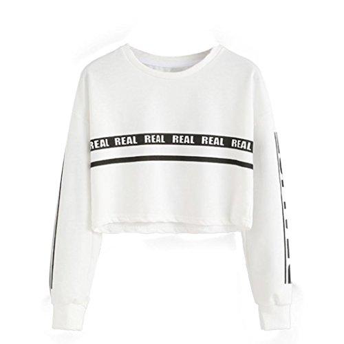 UOMOGO Felpe Sportive con Cappuccio Donna Ragazza Maglie Manica Lunga Felpa Strisce Pullover Tumblr Autunno Inverno Elegante Sweatshirt Oversize T Shirt