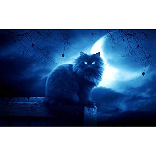 Xmansky Cielo nocturno, noche de luna5d diy Diamond Painting Wall Art Craft de punto de cruz bordado decoración del hogar