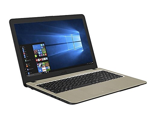 'ASUS VivoBook Ordinateur Portable 15.6 HD LED, processeur Intel Dual Core 3350 m, RAM 4 Go, Disque Dur 500 Go, Complet de Windows 10 Pro Chocolate Black [Layout Italien]