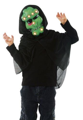 Cesar B103-001 Leuchtende Kindermaske Monster mit Kapuze, Grün