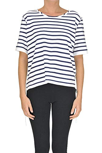 MM6 by Maison Martin Margiela Striped Sweatshirt Woman Navy Blue XS int.