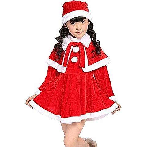 Waboats Mamá Noel Disfraz Miss Santa Vestido Conjunto Navidad Niñas 1-7 años